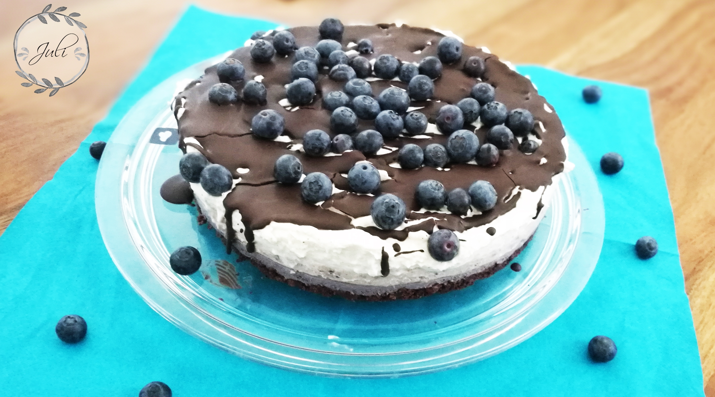 Ombré Blaubeer Kuchen